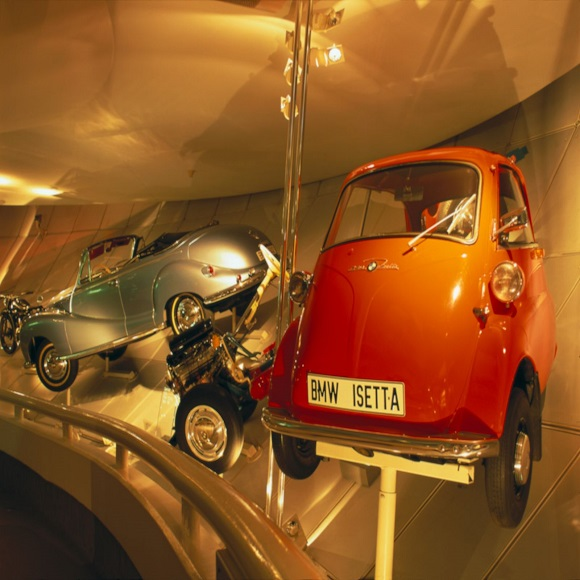 Cars on show in the BMW Museum, (C) Munich, photo: Cowin, Andrew
