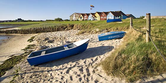 Amrum Island/North Sea: colourful houses in Steenodde