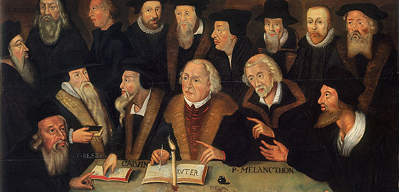 Painting: Martin Luther surrounded by Reformers 1625/1650