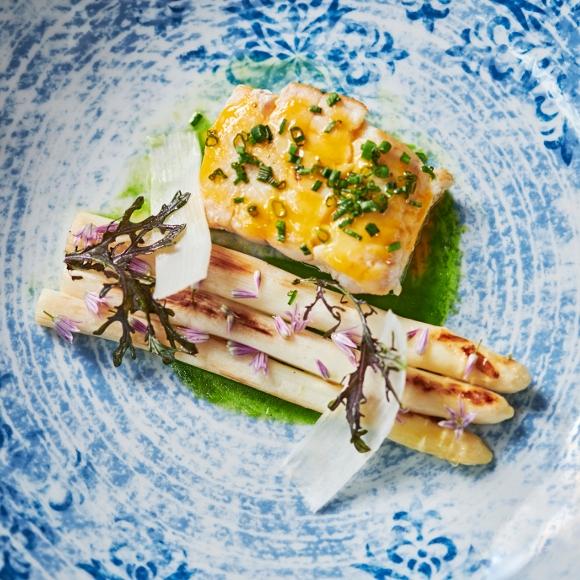 Nuremberg: asparagus dish from the restaurant Wonka