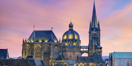 Aachen: Cathedral in the evening
