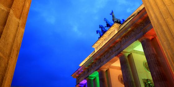 Berlin: Brandenburg Gate in the evening