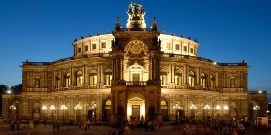 Dresden: Semper Opera House, exterior view