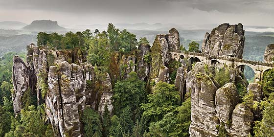 Saxon Switzerland: Elbe Sandstone Massif, Bastei Bridge