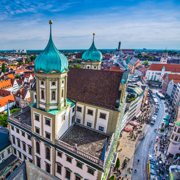 Augsburg: City Hall from above