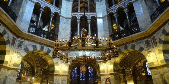 Aachen cathedral, inside view