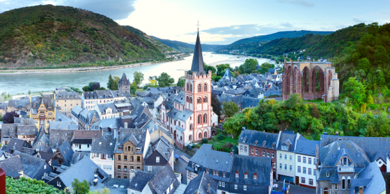 Rhineland-Palatinate, Bacharach in the Upper Middle Rhine Valley (UNESCO World Heritage)