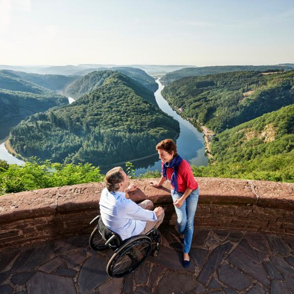 Saar Bow: Couple with wheelchair enjoys the view