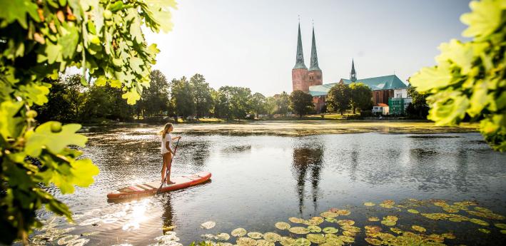 Lübeck: Stand-up paddling
