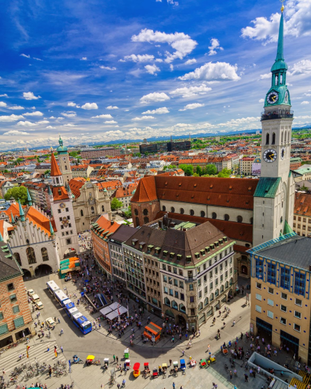 Munich: Bird's eye view of Munich city centre