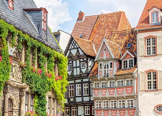 Quedlinburg Altstadt Häuserfassade