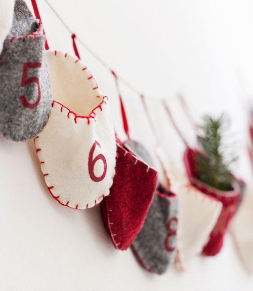 Advent calendar on the wall