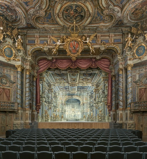 Bayreuth: UNESCO world heritage, Margraves' Opera House, view to the stage