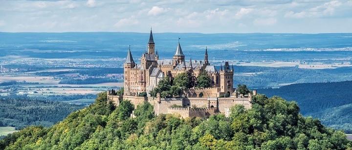 Bisingen: Hohenzollern castle, Swabian Alps
