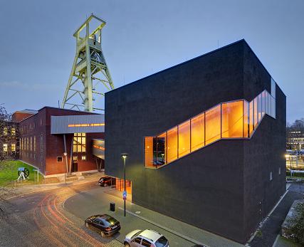 Bochum: German Mining Museum (DBM), winding tower, evening
