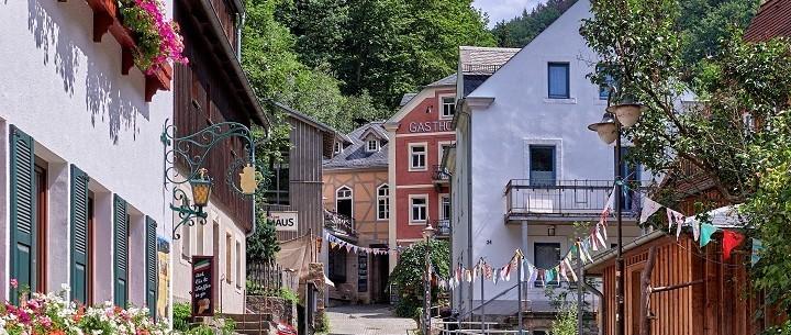 Schmilka: Old town