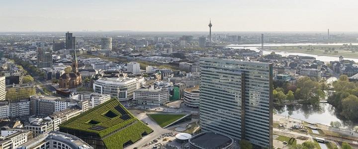 View of Düsseldorf © ingenhoven architects -HGEsch