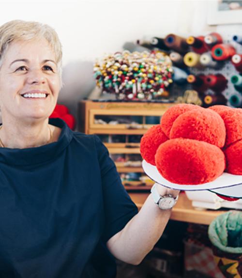 Wolfach: Bollenhut maker Waltraud Kech in her studio